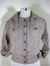 Vintage MOSCHINO Jeans Italy Brown Houndstooth Wool Blend Jacket Sto M 6 7