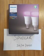 Philips Hue White & Colour Ambience B22 x2 -Twin Pack -Alexa/Google - FREE P&P