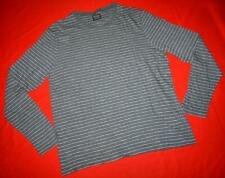 """All Saints """"Ray LS Crew"""" Striped Long Sleeve T-Shirt Top Size S Small - Grey"""