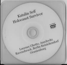 KATALIN SEIF AUSCHWITZ & RAVENSBRUCK HOLOCAUST SURVIVOR RARE INTERVIEW DVD