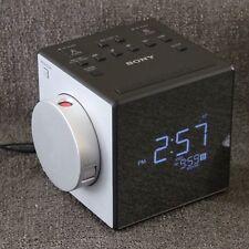 Sony 2014 Cube Clock Radio ICF-C1PJ Time Projection Dual Alarms USB Port EUC