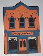 Cat's Meow Fine Jeweler Jewelry Shop wood building shelf sitter 1988