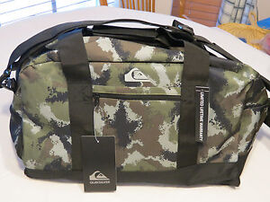 "Quiksilver Medium Shelter Duffel Bag GPB6 camo TPQS07001 37L 12.25""X10.25""X19.25"