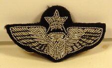 Usaf Air Force Senior Officer Aircrew Wings Small Bullion Badge Insignia Pin