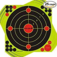 ATFLBOX 25 Packs 12'' Bullseye Super Splatter and Self Adhesive shooting Target
