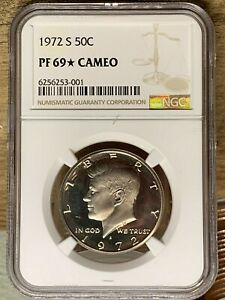 1972 S Kennedy Proof, Graded PF 69* Cameo, 001B