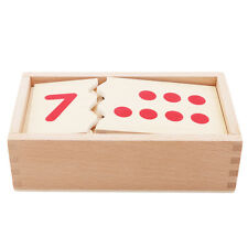 Montessori 3d Baby Toddler Wood Toy Math Counting Dots Numbers Numeric Puzzle BS