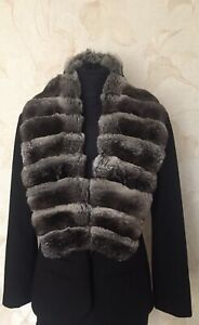 Fur Chinchilla Collar,Scarf,Shawl,Wrap,.Not Mink;Sable;Lynx;fox.For Jacket/coat