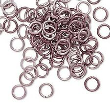 Jumpring Jump Ring Connector Opened Aluminum, MANY COLORS, 6mm, 18 ga, 100 Qty
