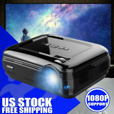 LED Smart Home Theater Projector 4K 1080p FHD 3D VGA 2*HDMI 2*USB Video Movie US