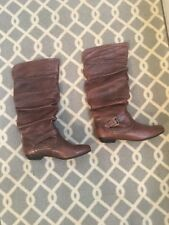 Women's Steve Madden Kambyy Knee High Boots Brown Boho 7.5 M Retail $175 Boho