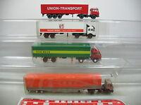 AI649-1 #4x wiking H0 Lorry/Truck Mercedes-benz MB : Schenker+Regent+ Union Etc