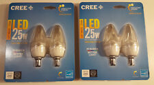 2 - Cree 25W Equiv Soft White Dimmable Clear B11 Led Candelabra Light Bulb 2-Pk