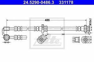 Flexible de frein NISSAN X-TRAIL (T30) 4006633375412