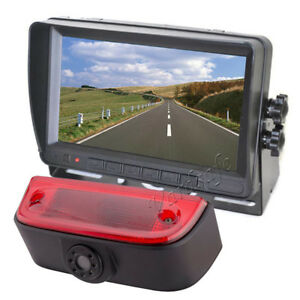 Vardsafe   Brake Light Backup Camera with Self Stand Monitor For Nissan NV200