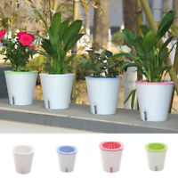 Self-Watering Resin Round Succulent Plant Hydroponic Potted Flowerpot Flower Pot