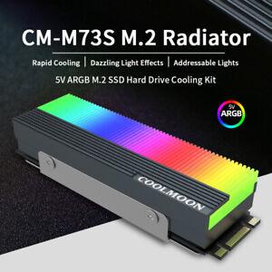 M.2 Cooling SSD Cooler RGB HeatSink 2280 Radiator Addressable LED NGFF NVME PCIE