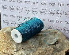 (0,05€/m) 140m Bouillondraht aqua blau  0,3mm Basteldraht Draht