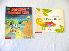 Lot-Jerome Camps Out by Christelow & A Color of Gus Own by Lionni * Children's
