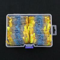 1460Pcs 1/4W Metal Film Resistor Kit Assortment Set Labelled 1%Precision new