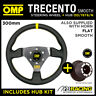 RENAULT CLIO MK2 ALL 98-06 OMP SMOOTH LEATHER 300mm TRECENTO STEERING WHEEL KIT