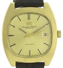 IWC Schaffhausen 750/18k Gold Vintage Automatic Herrenuhr Kal. 8541 Ø35mm ~1970