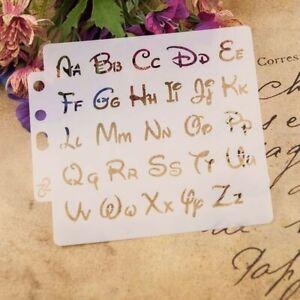 Alphabet Pochoirs Lettre Modèle Peinture Scrapbooking Gaufrage Emboutissage