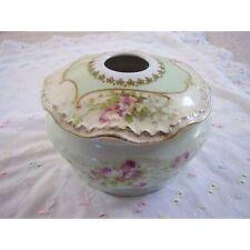 Porcelana De Limoges Francia, jarrón-Bol con Tapa-Caja de la baratija