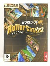 6 Jeu Rollercoaster Tycoon 3 Deluxe Gold PC Roller coaster World of