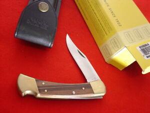 """Buck USA FOLDING HUNTER 110 5"""" Lock Blade 1991 Lockback Knife MINT"""