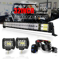 "Yamaha Viking VI 700 /& 700 FI 4x4 2014-2020 Tusk Curved LED Light Bar Kit 30/"""