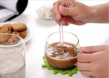 3PCS Borosilicate Transparent Glass Coffee Scoop Sugar Spoon Coffee Spoon