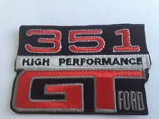 Ford Falcon 351 High Performance  GT logo - embroidered cloth patch.    F020404