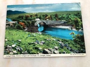 Vintage Postcard Lackagh Bridge Carrigart Creeslough Donegal Ireland Mulroy Bay