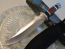 """Survivor Ebony & Pakkawood Fancy Hunter Dagger Bowie Knife 440 781L 12"""" OA New"""