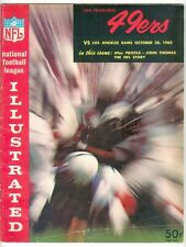 1962 Los Angeles Rams at San Francisco 49ers NFL program 10/28 Brodie Olsen Mats