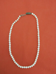 Beautiful Vintage AKOYA Cultured Japanese Pearl Necklace 38cm (5/5.3mm)