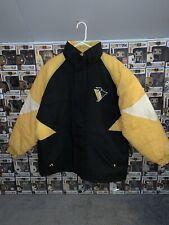 Pittsburgh Penguins Logo 7 Puffer Jacket Size Xl Vintage 90s