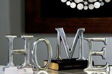Schriftzug 'HOME' Aluminium silber poliert 4-teiliges Set Deko Höhe 16cm NEU