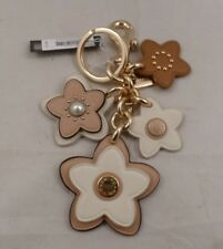 NWT COACH Leather Wild Flower Mix Key Chain Ring Bag Charm 26790
