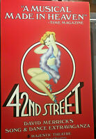 42nd Street Broadway Musical 1981 original window card w/o quotes or credits