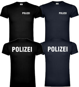 Polizei T-Shirt Shirt Tshirt Reflex Reflektierent Beamter Unisex