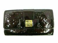 Authentic Louis Vuitton Vernis Portefeuille Sarah M91498 Amarante 87782