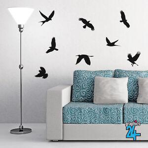 8 x Birds Flying Vinyl Wall Art Sticker Decal Living Room Bedroom Home Decor