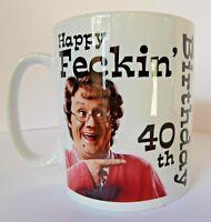 Personalised Mrs Browns Boys Birthday Mug Gift Idea 30th 40th 50th 60th etc etc