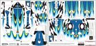 WRAPS/SKINS for DJI INSPIRE 1 Quadcopter Drone, Battery & Remote  CF BLUE/YELLOW