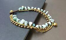 Chain Anklet Amazonite Brass