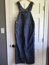 Vintage Sears Tradewear Perma Prest Union Made Denim Overalls Mens 38x30