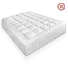 Bamboo Pillowtop Mattress Topper Fibre 1000 GSM 5cm Cover Protector Fabric Queen