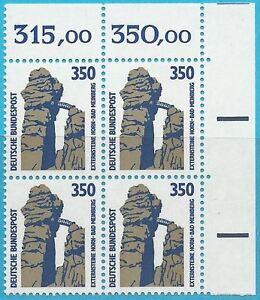 Bund aus 1989 ** postfrisch Viererblock MiNr. 1407 - Sehenswürdigkeiten!